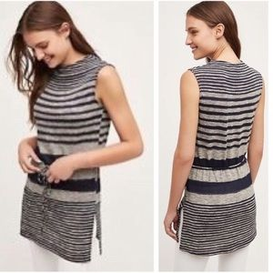 Dolan Left Coast Top Small Drawstring Stripe Tunic